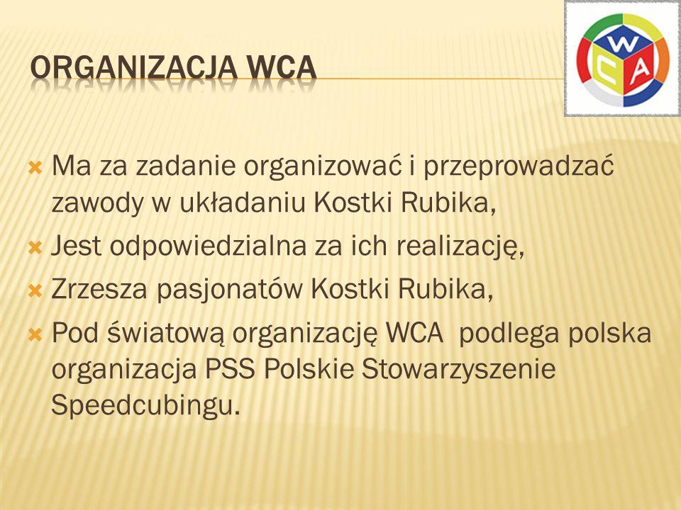 Celem organizacji WCA jest… …więcej zawodów w większej ilości krajów z większą ilością zawodników oraz zasadami fair- play.
