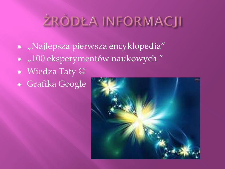 Najlepsza pierwsza encyklopedia 100 eksperymentów naukowych Wiedza Taty Grafika Google