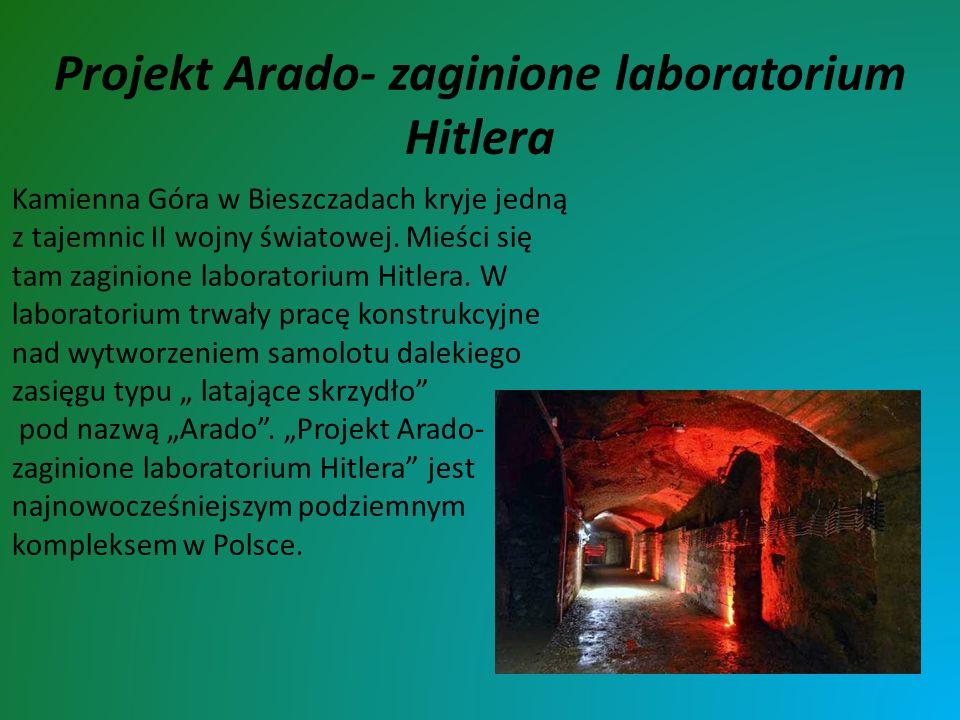 Projekt Arado- zaginione laboratorium Hitlera Kamienna Góra w Bieszczadach kryje jedną z tajemnic II wojny światowej. Mieści się tam zaginione laborat