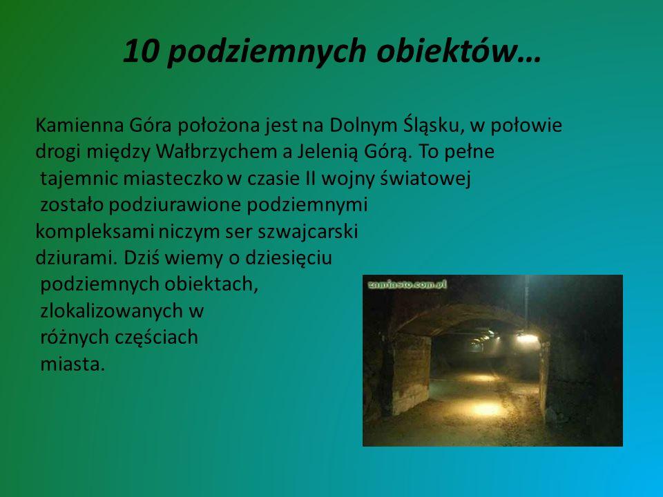 Kamienna Góra położona jest na Dolnym Śląsku, w połowie drogi między Wałbrzychem a Jelenią Górą. To pełne tajemnic miasteczko w czasie II wojny świato