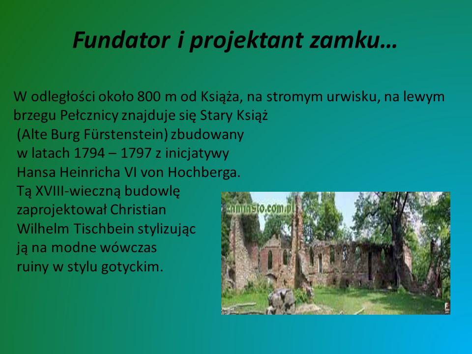 W odległości około 800 m od Książa, na stromym urwisku, na lewym brzegu Pełcznicy znajduje się Stary Książ (Alte Burg Fürstenstein) zbudowany w latach