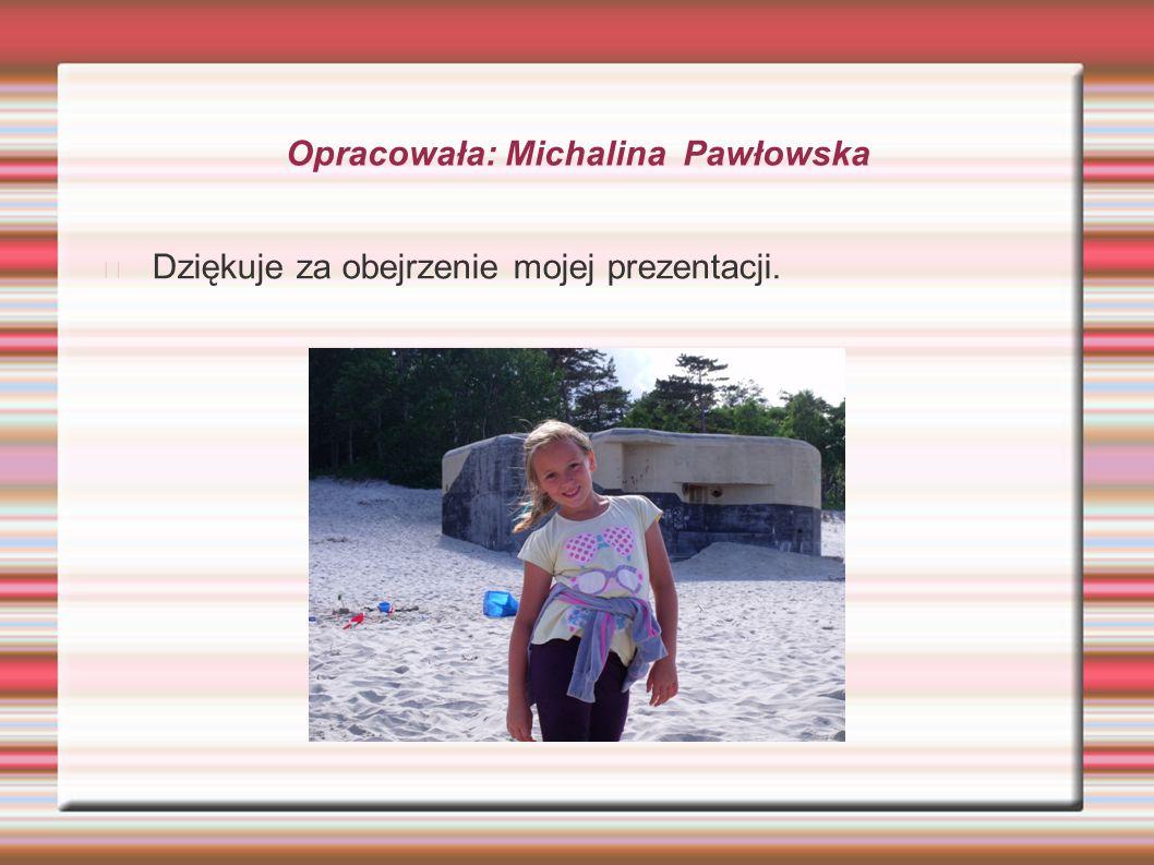 Opracowała: Michalina Pawłowska Dziękuje za obejrzenie mojej prezentacji.
