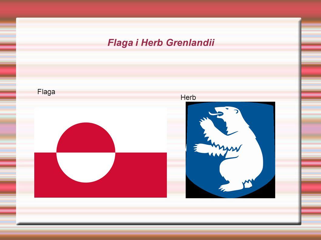 Flaga i Herb Grenlandii Flaga Herb