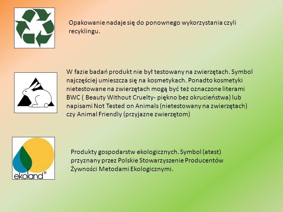 Opakowanie nadaje się do ponownego wykorzystania czyli recyklingu.
