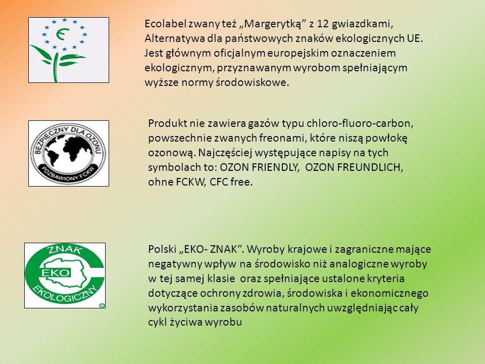 Ecolabel zwany też Margerytką z 12 gwiazdkami, Alternatywa dla państwowych znaków ekologicznych UE.