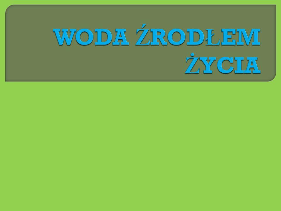 Ź ród ł a wykorzystane w prezentacji: www.tessart.pl www.wodadlazdrowia.pl www.sos.wwf.pl www.tvp.info/informacje/nauka/h2o-bez-niej-nie-ma-zycia