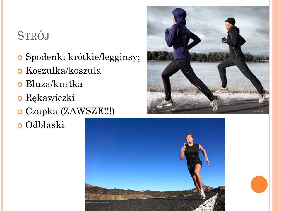 M OTYWACJA I WSPARCIE MOTYWACJA Wewnętrzna – dążenie do celu Zewnętrzna – nagradzanie się WSPARCIE Znajomi i rodzina; Fora biegowe; Grupy biegaczy; Nieznajomi