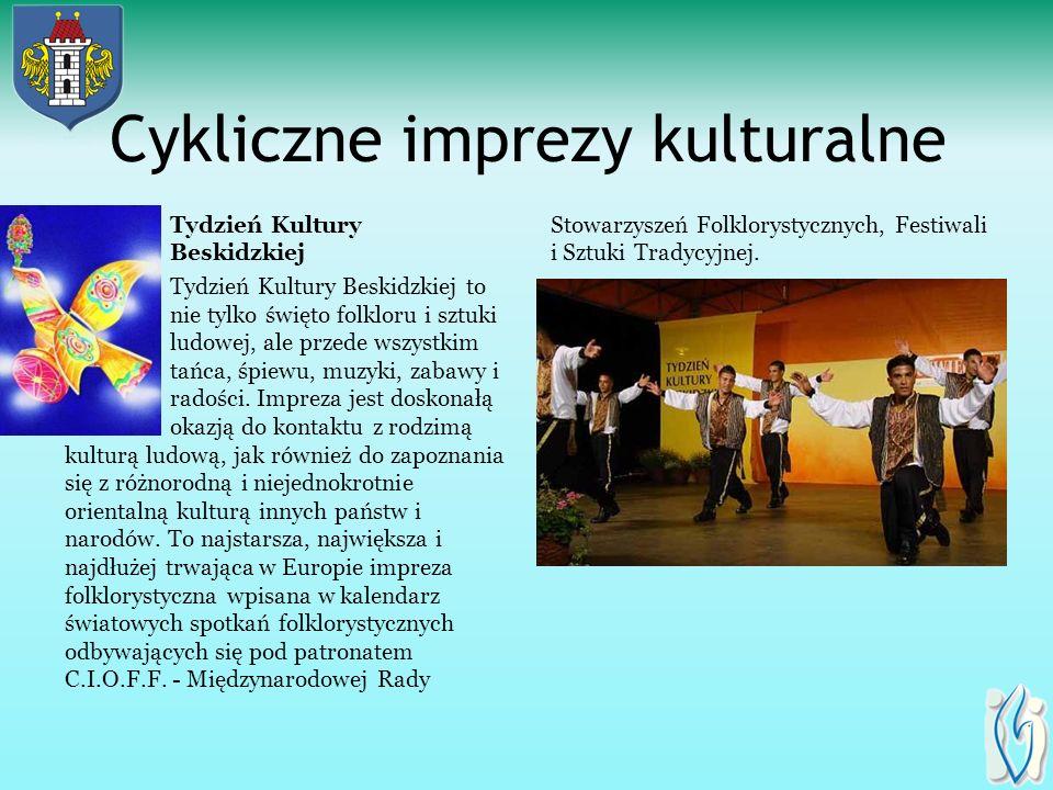 Cykliczne imprezy kulturalne Powiatowy Konkurs Ortograficzny Mistrz ortografii. Począwszy od pierwszej edycji imprezy, czyli od 1994 roku, do osiemnas