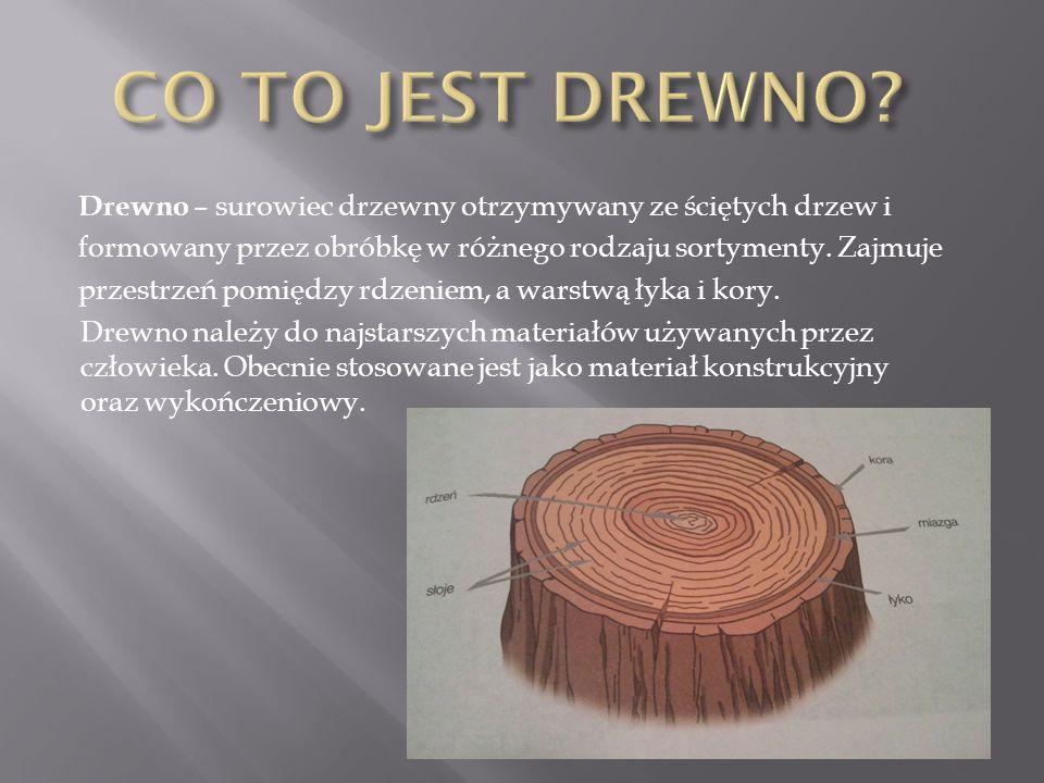 Drewno – surowiec drzewny otrzymywany ze ściętych drzew i formowany przez obróbkę w różnego rodzaju sortymenty. Zajmuje przestrzeń pomiędzy rdzeniem,