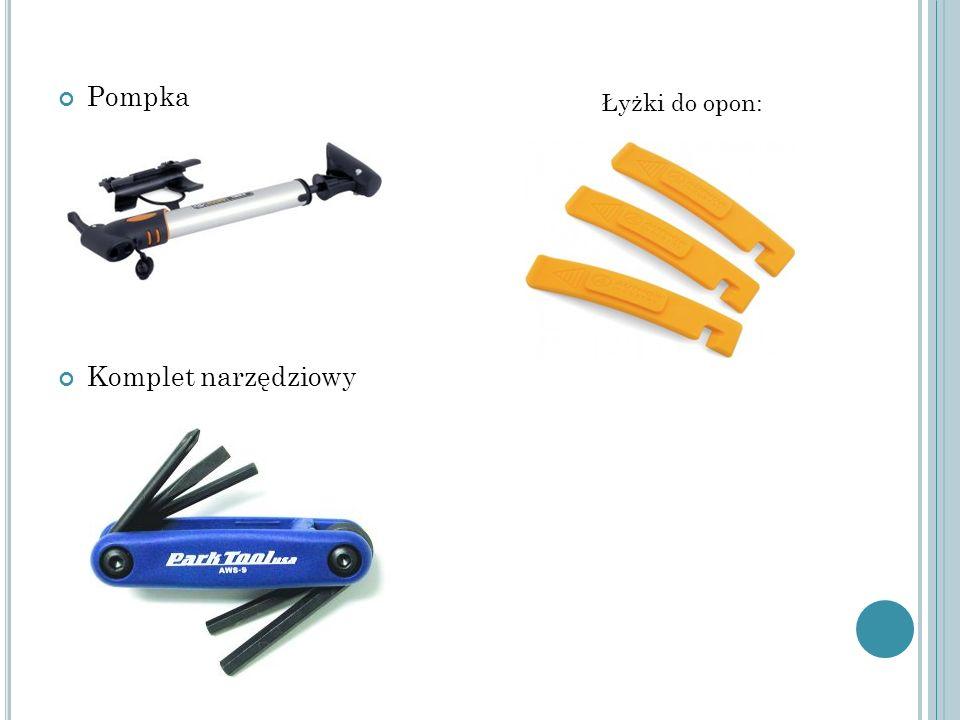 Pompka Komplet narzędziowy Łyżki do opon: