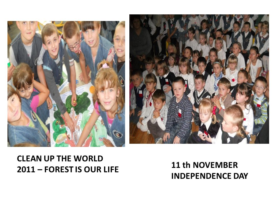 CLEAN UP THE WORLD 2011 – FOREST IS OUR LIFE 11 th NOVEMBER INDEPENDENCE DAY