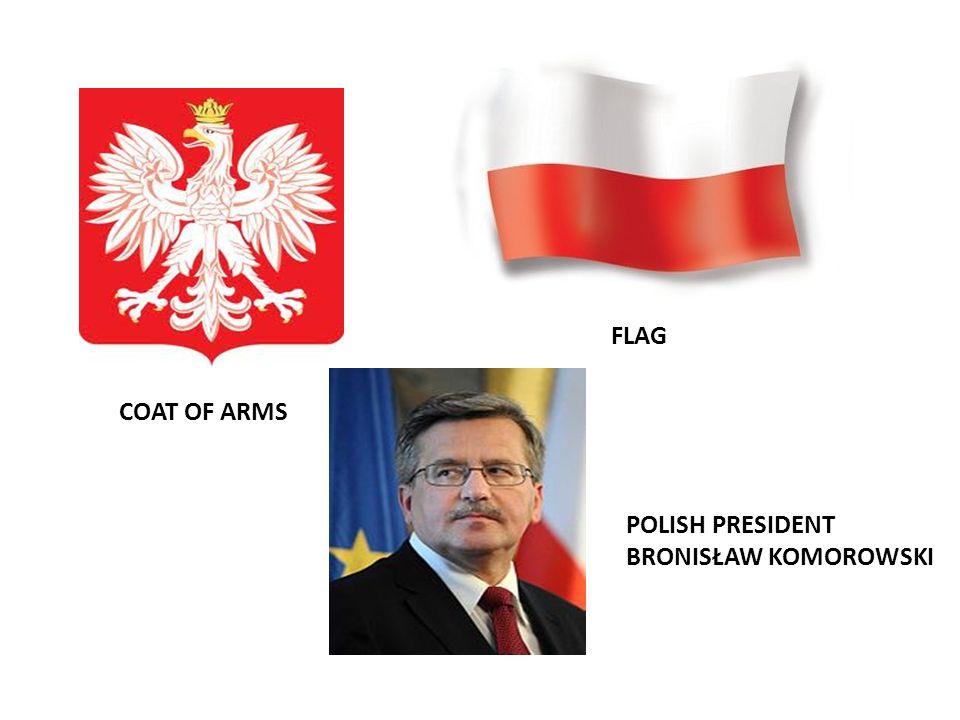 COAT OF ARMS FLAG POLISH PRESIDENT BRONISŁAW KOMOROWSKI