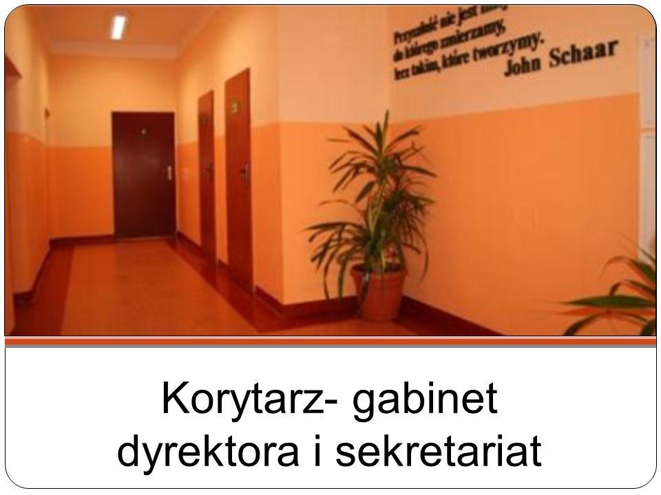 Korytarz- gabinet dyrektora i sekretariat