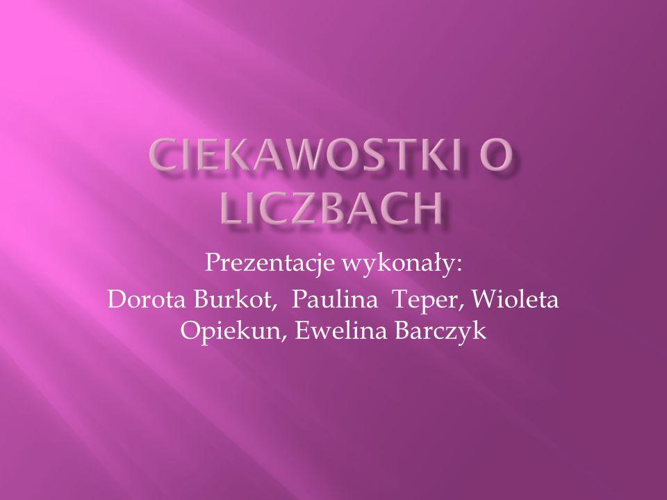 Prezentacje wykonały: Dorota Burkot, Paulina Teper, Wioleta Opiekun, Ewelina Barczyk