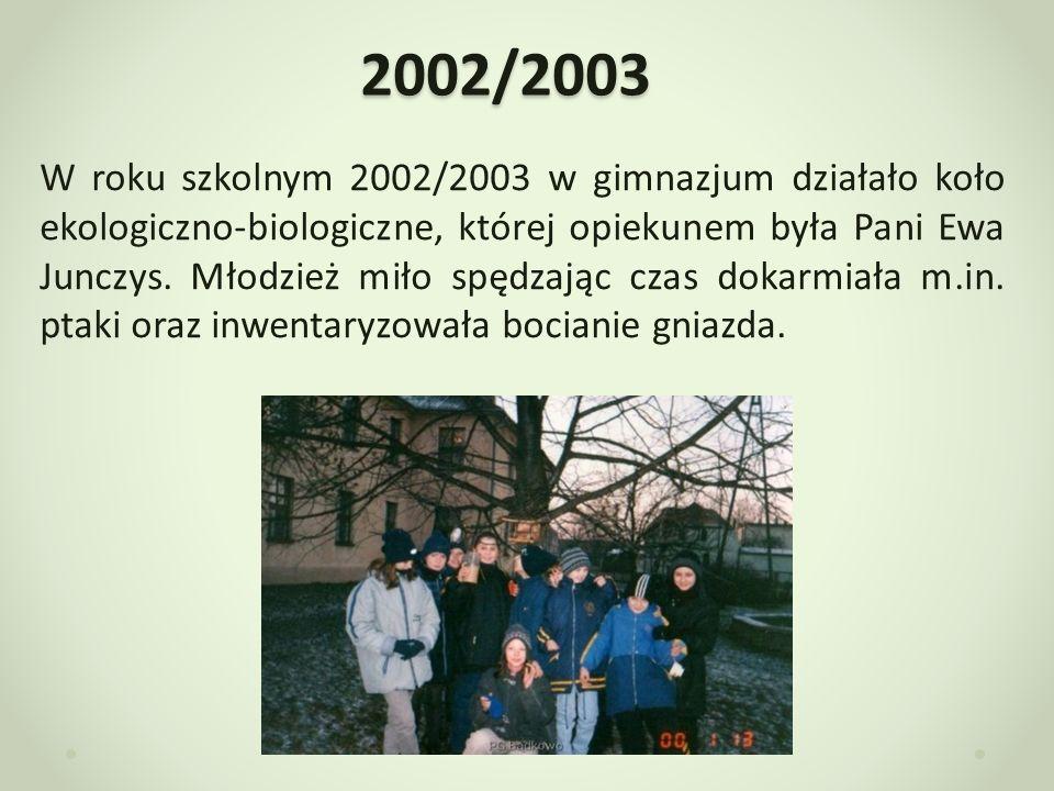 2003/2004 24.09.2004r.w naszej szkole odbył się apel dotyczący ochrony środowiska.