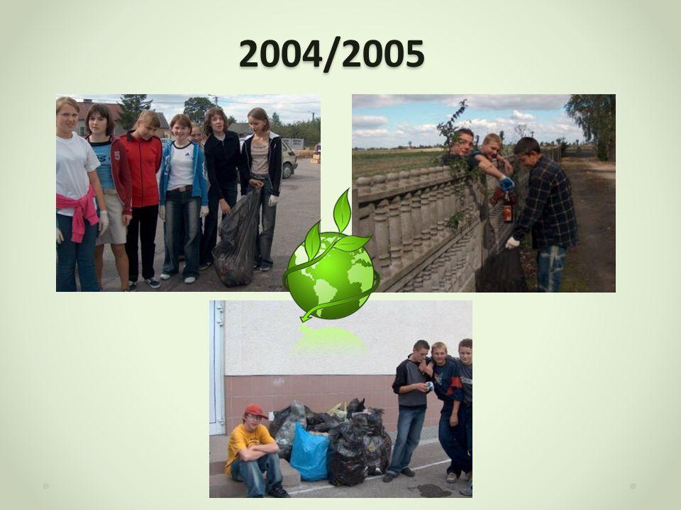 2005/2006 W roku szkolnym 2005/2006 w naszej szkole trwała akcja zbierania puszek aluminiowych.