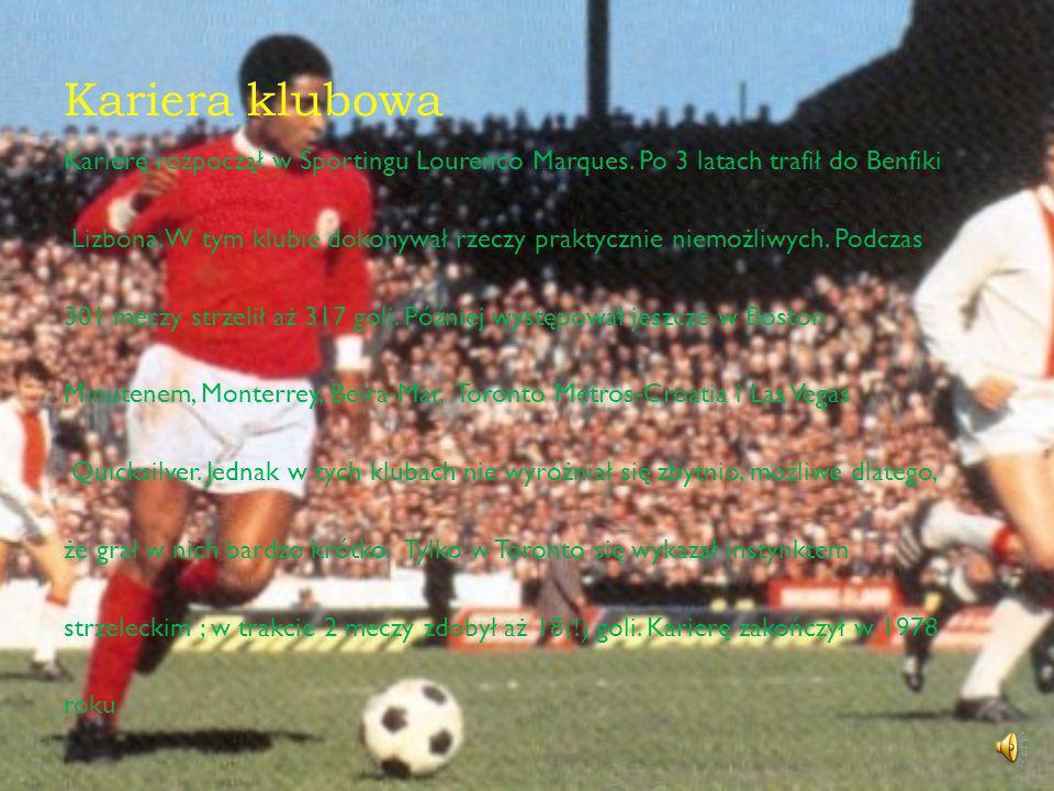 Reprezentacja Eusebio w kadrze zadebiutował w 1961 roku.