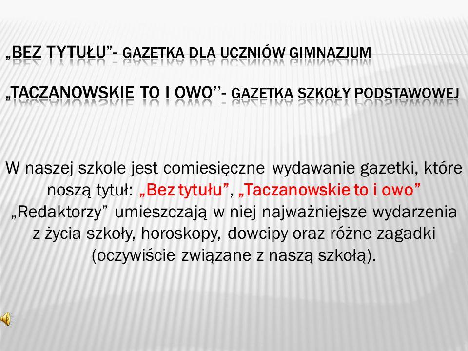 Sztandar szkoły ufundowany został przez mieszkańców Lubomierza i Taczanowa.