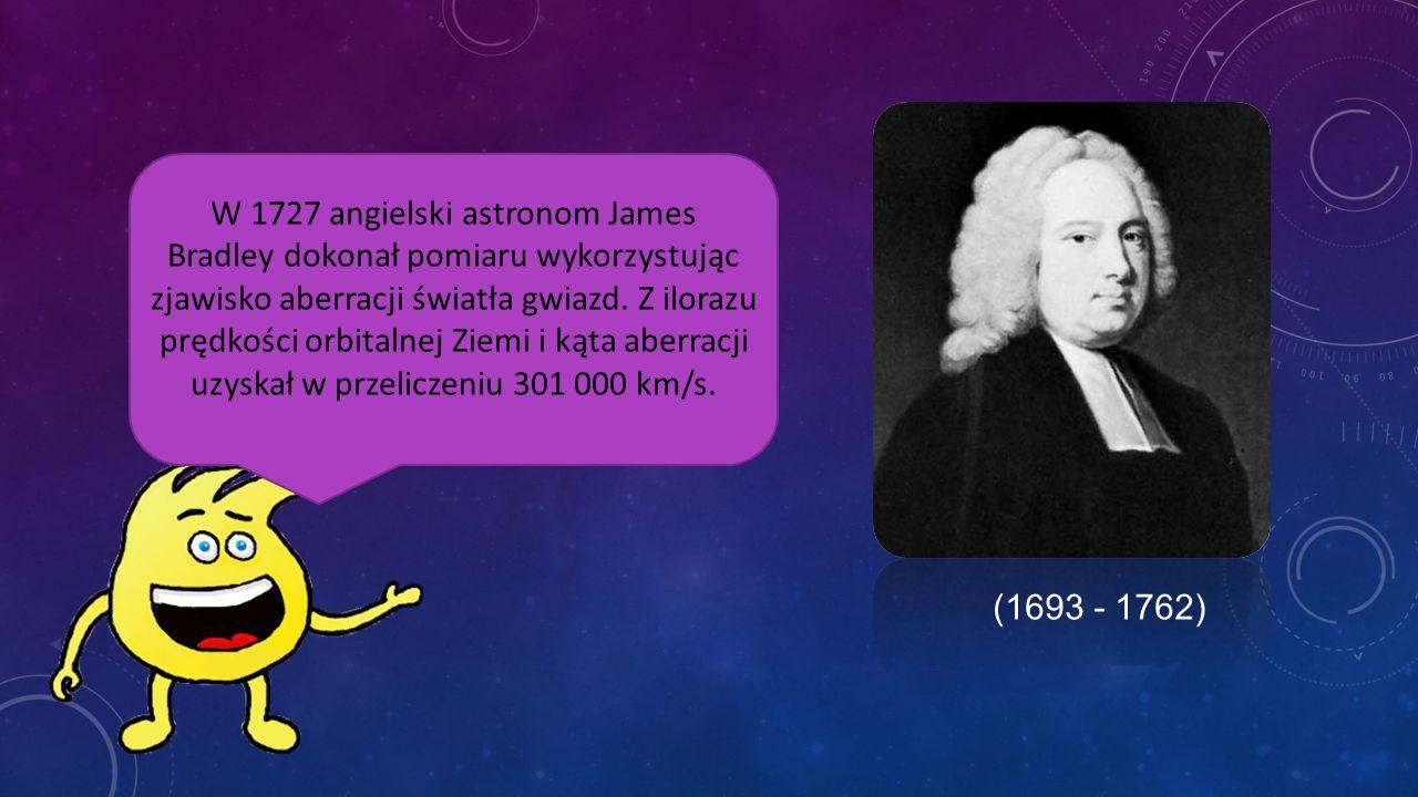 W 1676 duński astronom Ole Rømer podał pierwsze szacowanie skończonej prędkości światła stwierdzając, że światło potrzebuje mniej niż sekundę, by prze