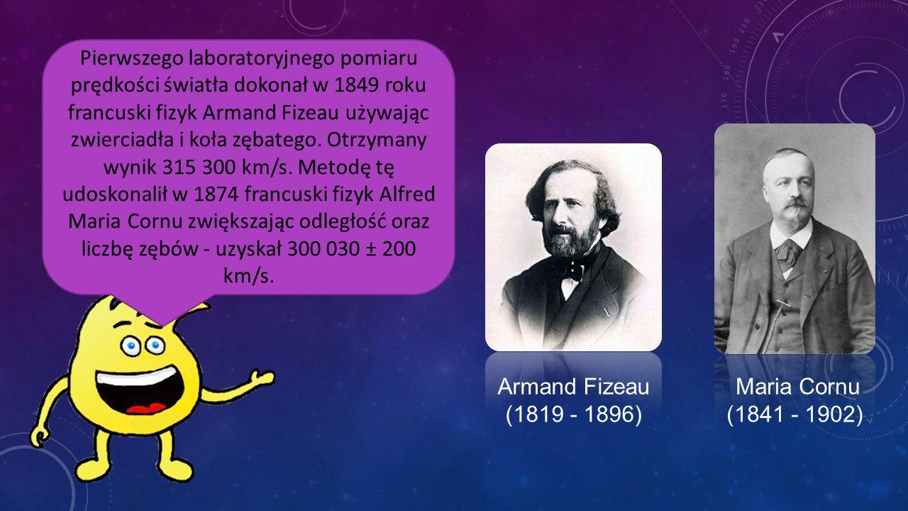 W 1727 angielski astronom James Bradley dokonał pomiaru wykorzystując zjawisko aberracji światła gwiazd. Z ilorazu prędkości orbitalnej Ziemi i kąta a
