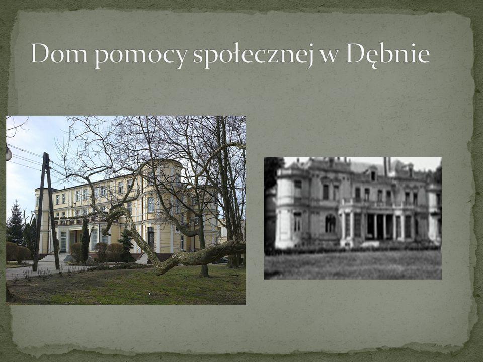 Pałac w Dębnie został pobudowany w 1877 roku przez Adolfa Koczorowskiego, podobnie jak istniejąca kaplica pod wezwaniem matki Bożej Bolesnej.