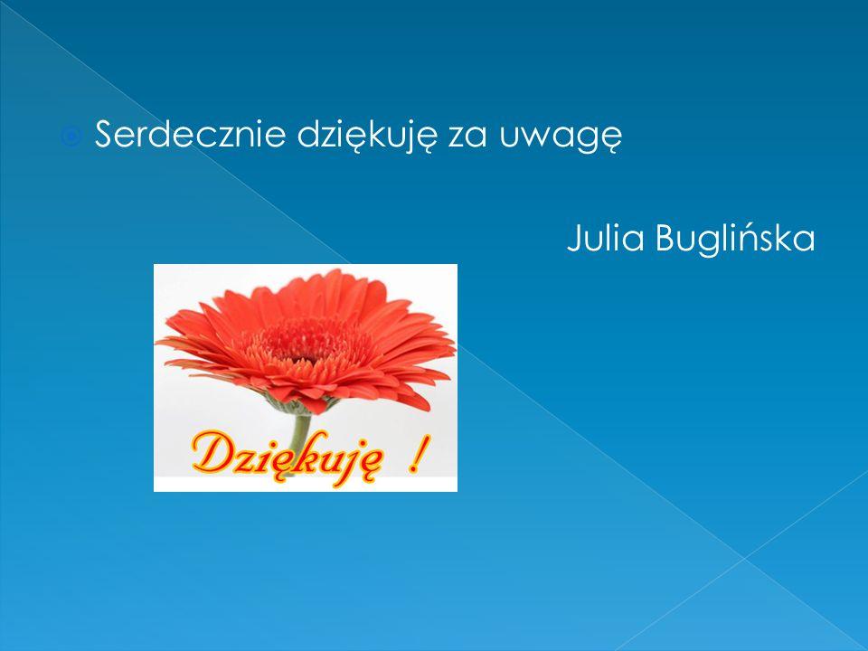 Serdecznie dziękuję za uwagę Julia Buglińska