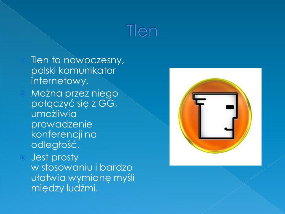 Tlen to nowoczesny, polski komunikator internetowy.