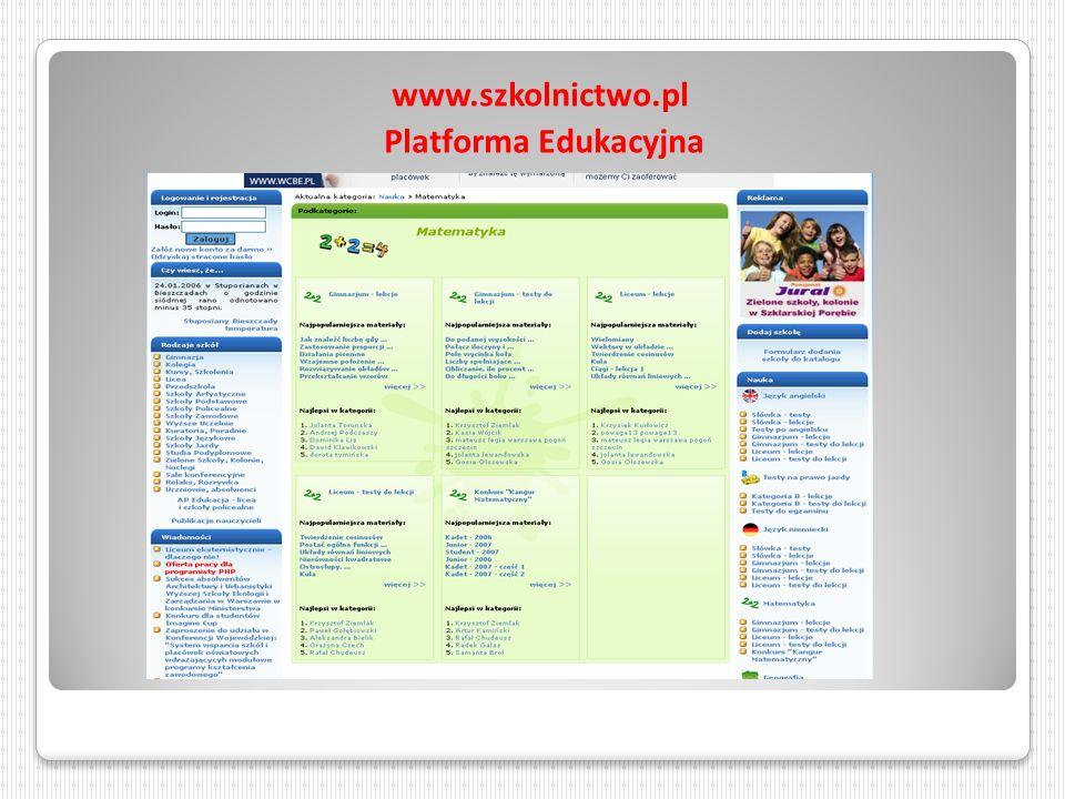 www.szkolnictwo.pl Platforma Edukacyjna