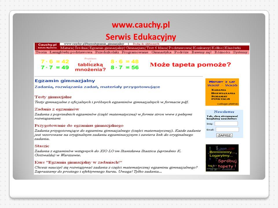 www.cauchy.pl Serwis Edukacyjny