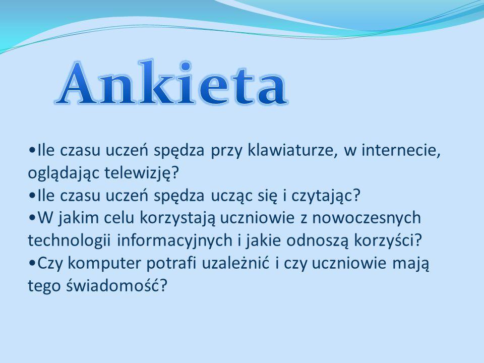 ANKIETA Ankieta jest anonimowa – prosimy o szczerą odpowiedź.