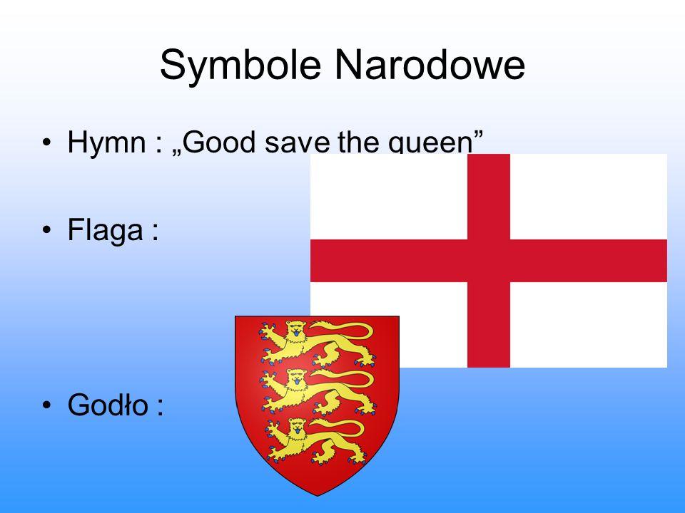 Symbole Narodowe Hymn : Good save the queen Flaga : Godło :