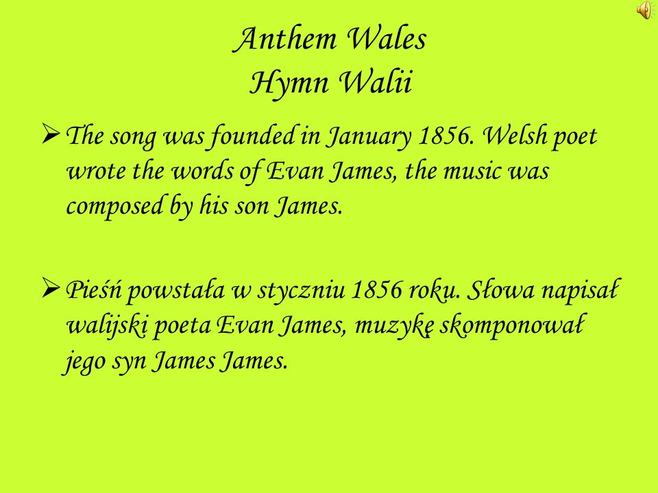Wales Walia Wales - one of the four parts of the United Kingdom situated in south-western part of the island,,United Kingdom the Irish Sea.