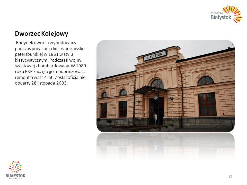 Dworzec Kolejowy Budynek dworca wybudowany podczas powstania linii warszawsko - petersburskiej w 1861 w stylu klasycystycznym. Podczas II wojny świato