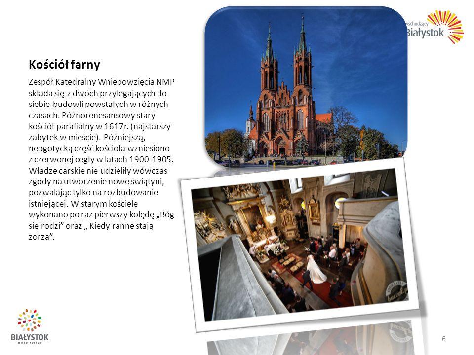 Kościół farny Zespół Katedralny Wniebowzięcia NMP składa się z dwóch przylegających do siebie budowli powstałych w różnych czasach. Późnorenesansowy s