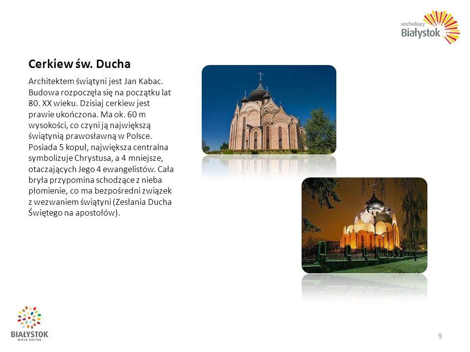 Cerkiew św. Ducha Architektem świątyni jest Jan Kabac. Budowa rozpoczęła się na początku lat 80. XX wieku. Dzisiaj cerkiew jest prawie ukończona. Ma o