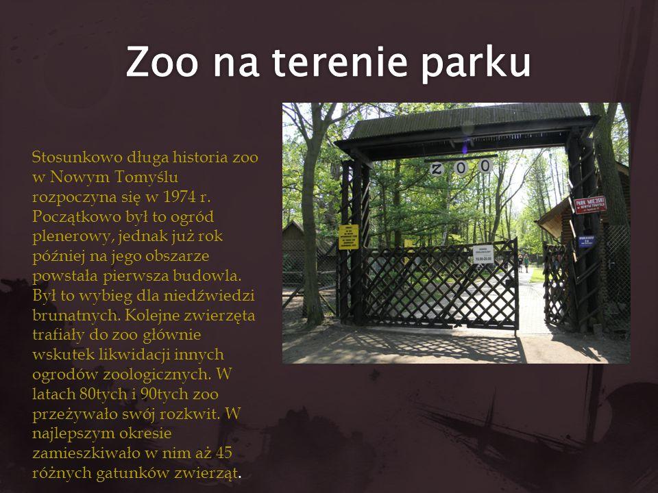 Stosunkowo długa historia zoo w Nowym Tomyślu rozpoczyna się w 1974 r. Początkowo był to ogród plenerowy, jednak już rok później na jego obszarze pows