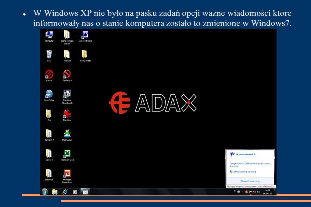 Jednym z nowych programów jest nowoczesna aplikacja Windows Media Center.