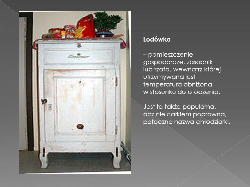 Lodówka – pomieszczenie gospodarcze, zasobnik lub szafa, wewnątrz której utrzymywana jest temperatura obniżona w stosunku do otoczenia. Jest to także