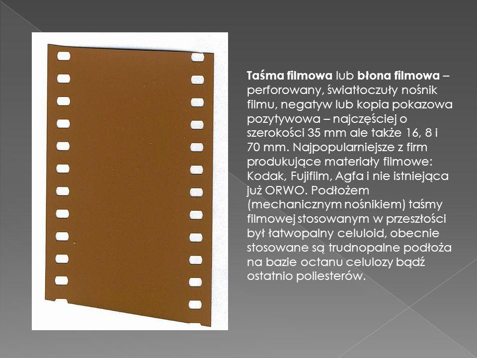 Taśma filmowa lub błona filmowa – perforowany, światłoczuły nośnik filmu, negatyw lub kopia pokazowa pozytywowa – najczęściej o szerokości 35 mm ale t