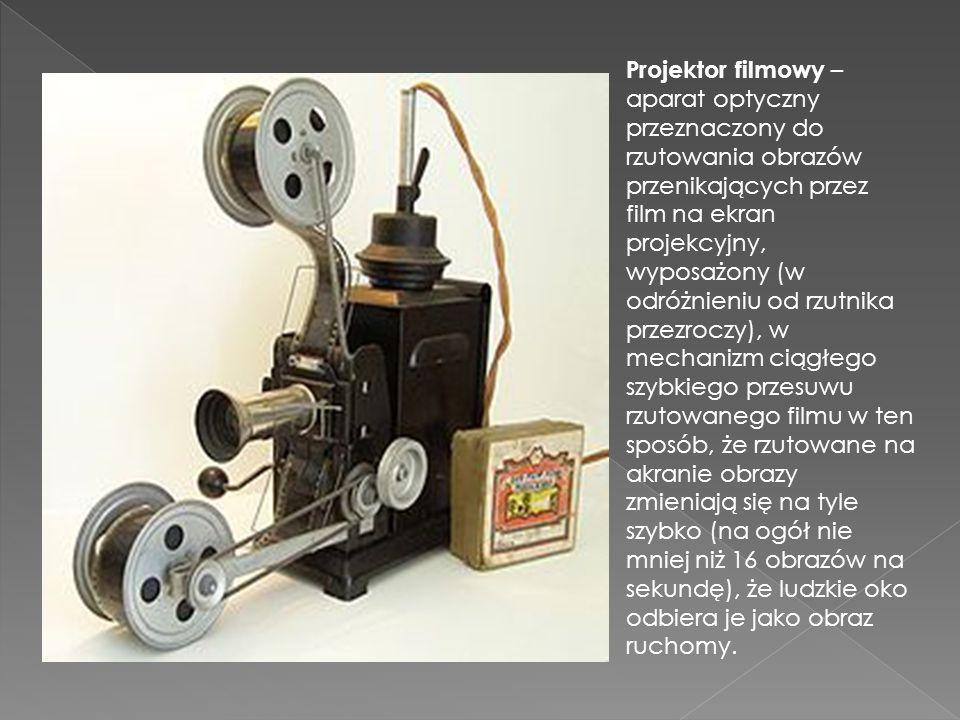 Projektor filmowy – aparat optyczny przeznaczony do rzutowania obrazów przenikających przez film na ekran projekcyjny, wyposażony (w odróżnieniu od rz