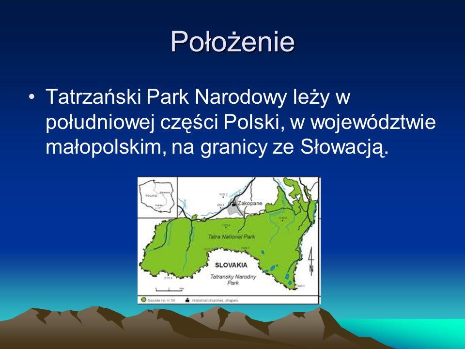 Położenie Tatrzański Park Narodowy leży w południowej części Polski, w województwie małopolskim, na granicy ze Słowacją.