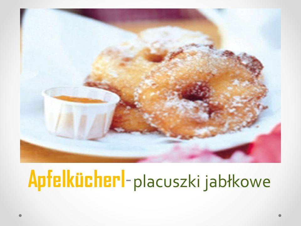 Apfelkücherl - placuszki jabłkowe
