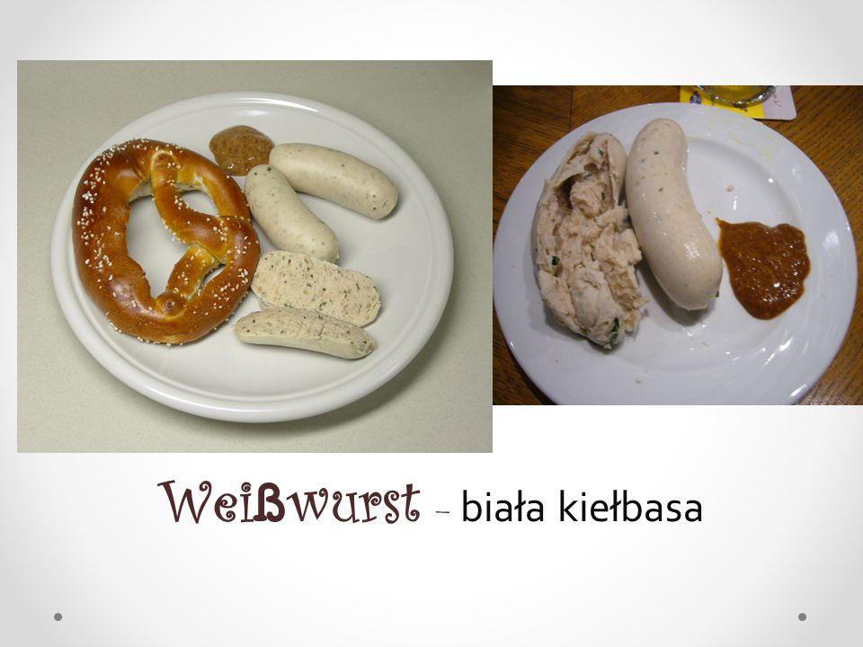 Wei ß wurst – biała kiełbasa