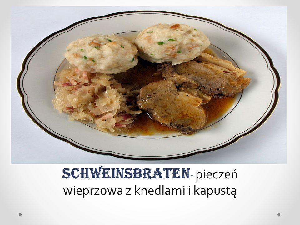 Schweinsbraten - pieczeń wieprzowa z knedlami i kapustą
