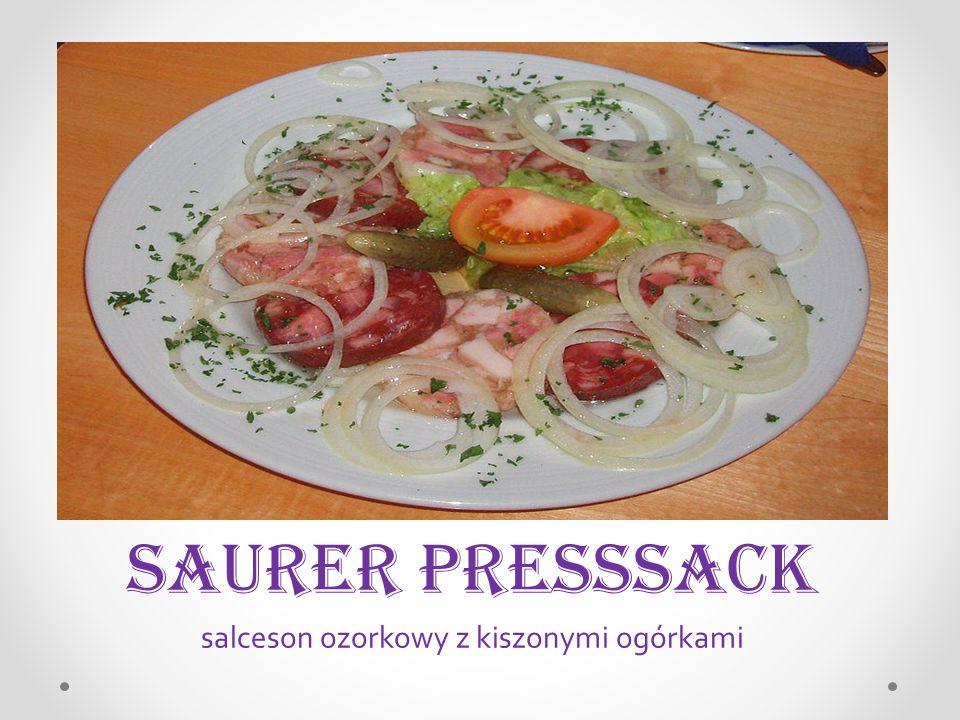 SaureR Presssack salceson ozorkowy z kiszonymi ogórkami