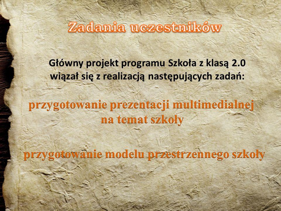 przygotowanie folderu na temat szkoły w języku polskim, a części w języku angielskim