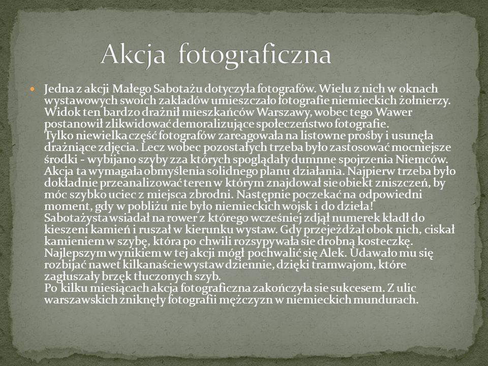 Działania Małego Sabotażu obejmowały także akcje, których celem była manifestacja barw narodowych z okazji polskich świąt narodowych.