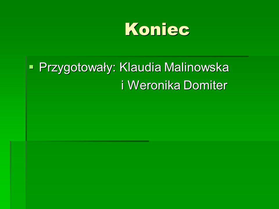Koniec Koniec Przygotowały: Klaudia Malinowska Przygotowały: Klaudia Malinowska i Weronika Domiter i Weronika Domiter