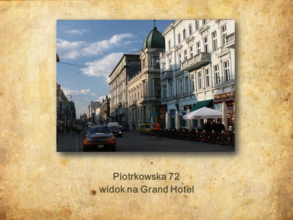 Piotrkowska 29 skrzyżowanie ulic Piotrkowskiej z Cegielnianą (obecnie Więckowskiego) Dom Bankowy Wilhelma Landaua