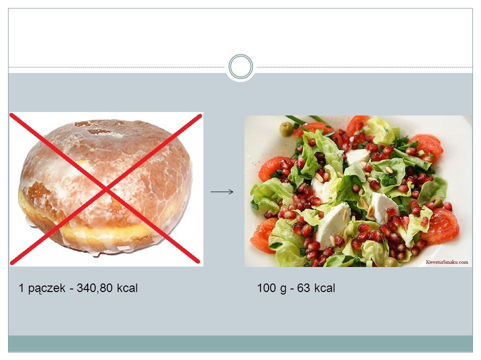1 pączek - 340,80 kcal100 g - 63 kcal